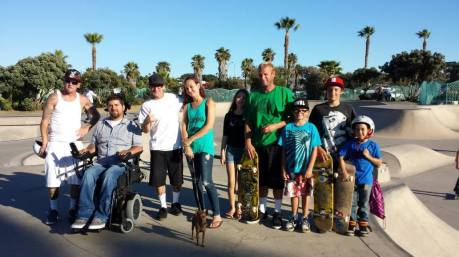 OB skate park with the Ryan clan.