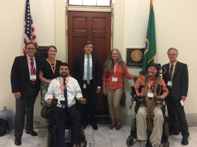Wendell, Claire, Teena, Ian & Andy with Congressman Denny Heck's Legislative Counsel, Graham Markewiecz.