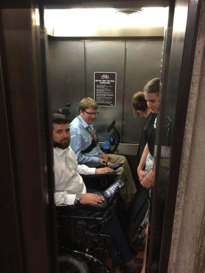 Quad Tetris with Minnesota's Rob Wudlick inside a metro elevator.