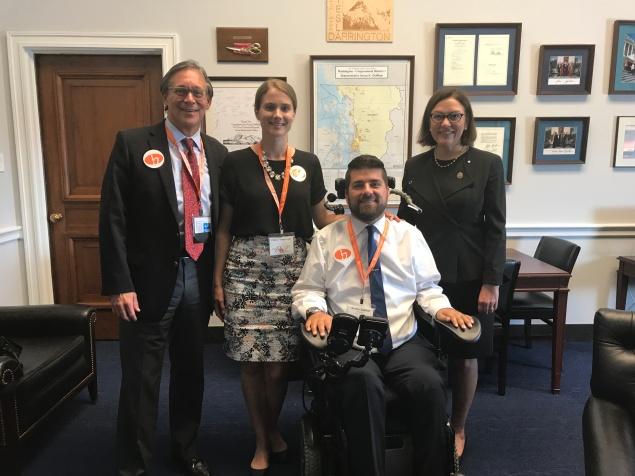 Wendell, Claire & I with Representative Suzan Delbene.
